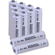 Real capacity! 12 pcs AAA 1.2V NIMH AAA rechargeable batteries 600mah for camera razor toy remote control flashlight цена