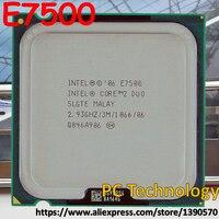 Original Intel Core 2 Duo E7500 Desktop CPU 3 mt Cache  2 93 ghz  1066 mhz LGA775  45nm prozessor Freies verschiffen schiff heraus innerhalb 1 tag-in CPUs aus Computer und Büro bei