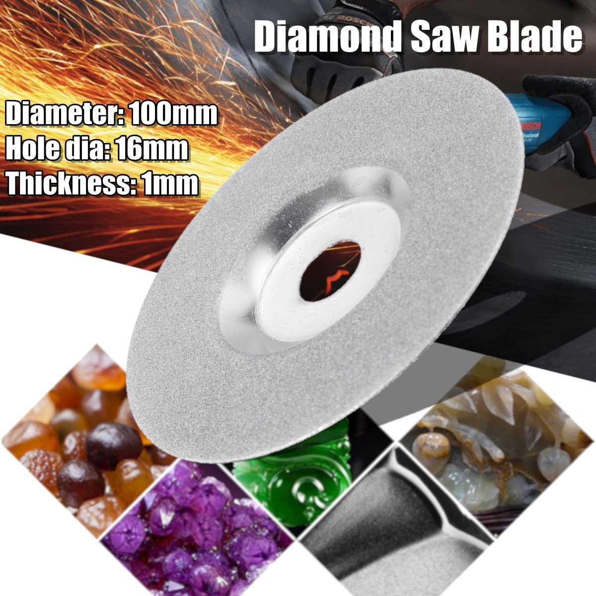 Roue de coupe de disque de lame de scie de diamant de granit en céramique de verre de 100mm pour des outils électriques de meuleuse d'angle de 16mm