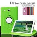 Для Samsung Galaxy Tab A SM-T280 T285 T280N Случай Кожи Сальто крышка для Galaxy Tab A 7.0 Wake Sleep Стенд Защитный Tablet случае