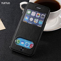 Роскошные оригинальный чехол для apple iphone4 iphone 4 s 4s coque мода pu кожаный чехол посмотреть телефон флип окно стенд сумка чехол