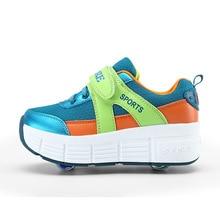 2016 Girls Boys Roller Casual Mono wheels Shoes Children Kids Sneaker With Wheels Running Sport Size