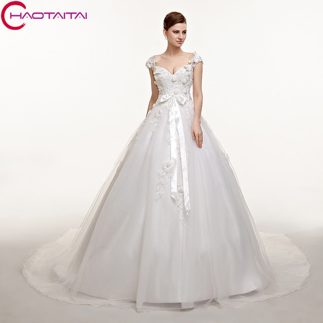 9db02f4337 Wedding Dresses Sweetheart Neck Lace Up Back Custom Made Plus Size Princess Bridal  Gowns Best Quality Cheap