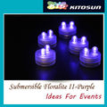 200pcs/Lot Battery Operated Super Bright 2LED Submersible LED Floralyte,Waterproof LED Candle Tea Light  For Wedding Party Decor