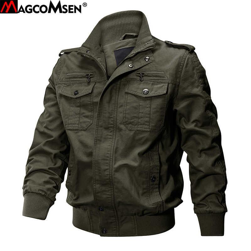 MAGCOMSEN куртки Мужская армейская Рабочая куртка тактическая, боевая, милитари куртка пальто однотонный бомбер куртки пилот пальто осень AG-SSFC-34
