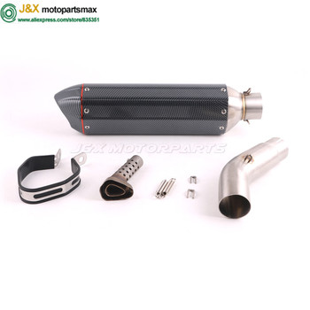 Motorcycle exhaust contact middle link pipe + muffler full system for SUZUKI GSR750 GSR 750 Slip On