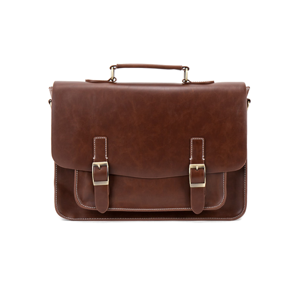 Men's Business Handbags Crazy Horse Pu Leather Casual Totes Larger Capacity Shoulder Bag Male Crossbody Bags Male Bolsa men handbags pu leather shoulder crossbody bag vintage traveling male messenger bags large capacity casual totes single