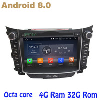 Octa core PX5 Android 8.0 Car dvd gps player For hyundai I30 2011 2017 with 4+32G ips screen usb WIFI 4G