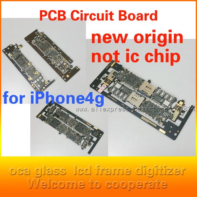 Nova motherboard principal placa lógica nua para apple iphone 4g pcb placa de circuito peças de reparo origem frete grátis