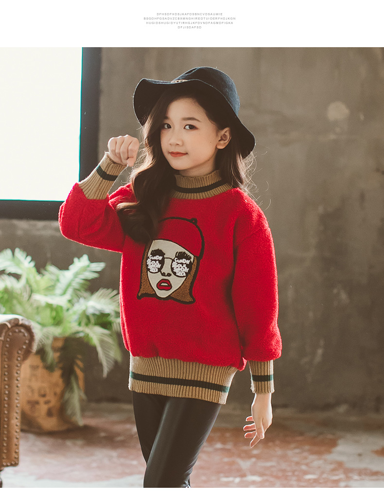 883388892 2018Teenagers Girls Sweater Cartoon Cute Casual Cotton Girls Winter ...