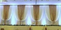 10FT x 20ft роскошные белые с блестящей золотой свадьба фон Свадебные украшения