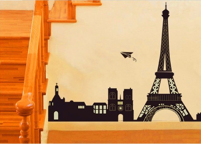 1set 50*70cm I Love Paris Living Room Vinyl Wall Art Decals Eiffel ...
