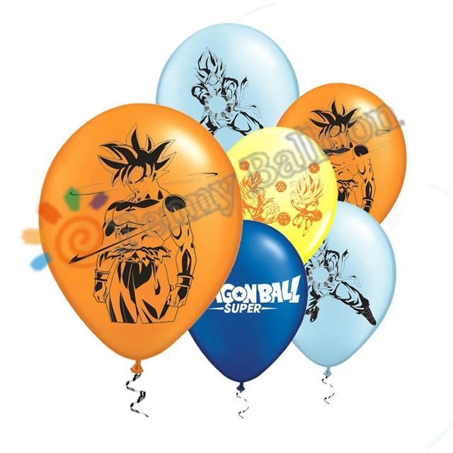 Nova 12 pçs/lote Látex Balão Bola Dragão Goku Globos Ballon Festa De Aniversário Decoração Crianças Brinquedos Super saiyan