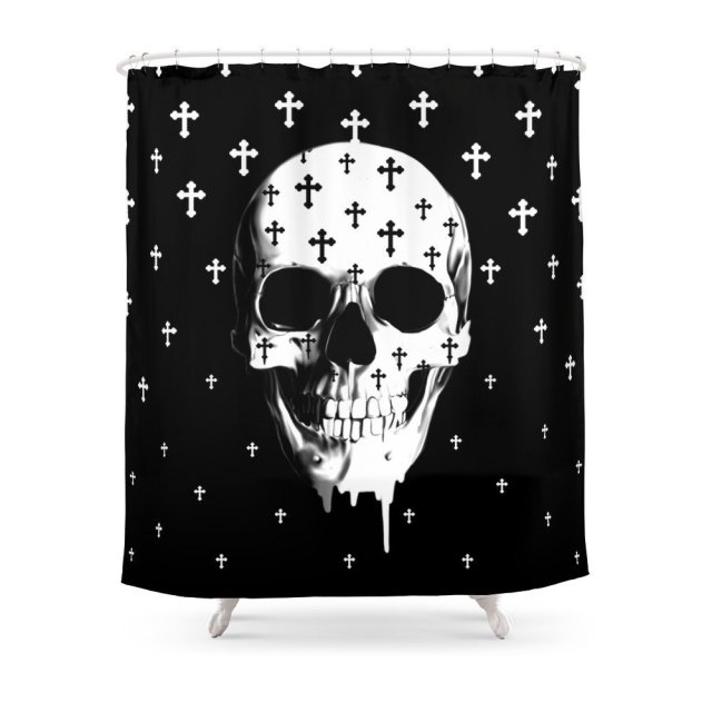 After Market Gothic Skull Shower Curtain Bath Products Bathroom ...