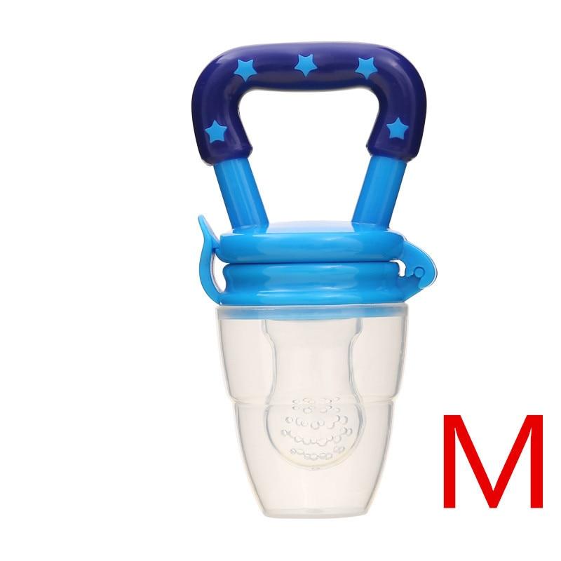 Детская соска для свежего питания, соска для кормления детей, соска для кормления фруктов, безопасные соска, бутылочки - Цвет: BlueM