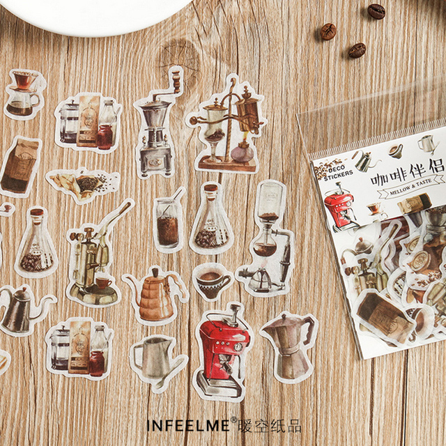 40 Pcs/Bag New vintage natural life paper sticker decoration stickers DIY for craft diary scrapbooking planner label sticker 1