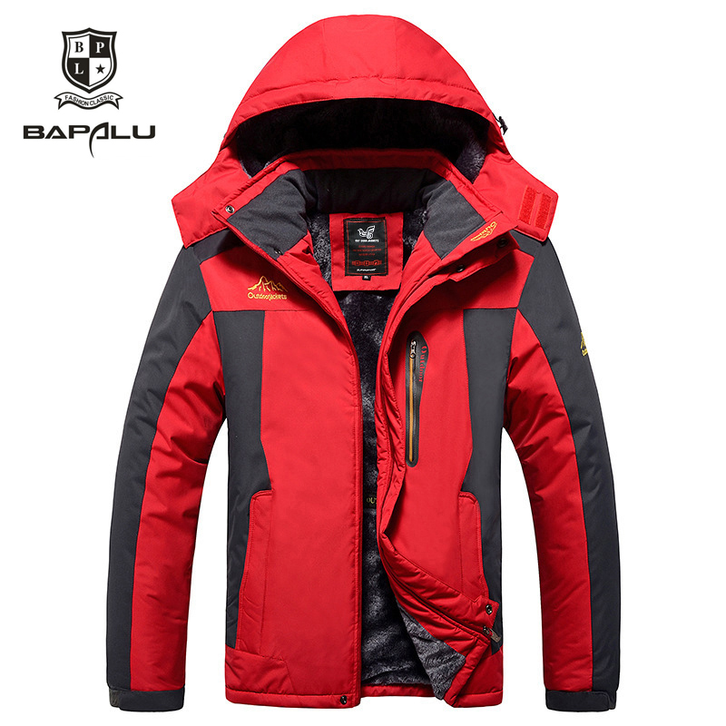 casaco masculino inverno <font><b>6XL</b></font> <font><b>7XL</b></font> 8XL <font><b>9XL</b></font> clothes men coat Plus velvet thickening Windbreaker men's Hooded casual warm jackets image