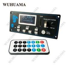 12v diy rádio de carro bluetooth estéreo, player de áudio led lyric display telefone AUX IN mp3 fm/usb/rádio leitor de cartão móvel de controle remoto