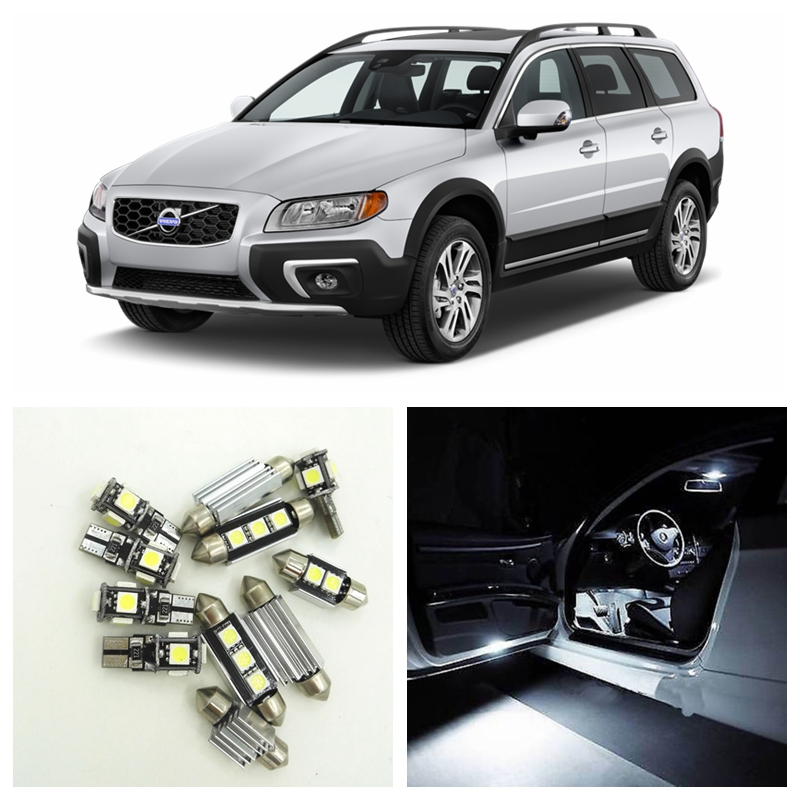 16pcs No Error White Canbus LED Car Light Bulbs Interior Package Kit For 2008-2015 Volvo XC70 Map Dome Trunk Door Golve Box Lamp цена