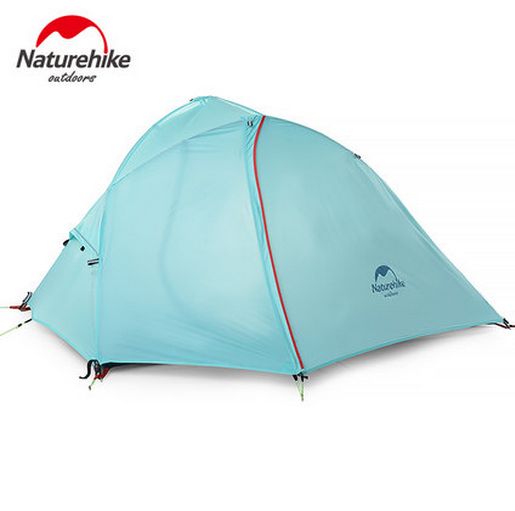 Naturehike Outdoor Camping Travel Tent Three Seasons Double Layer Sleeping Tents for 1 Person NH16S012-S high quality outdoor 2 person camping tent double layer aluminum rod ultralight tent with snow skirt oneroad windsnow 2 plus