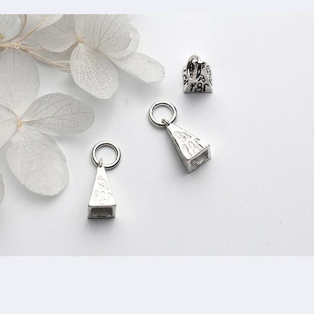 Uqbing 100% 925 пробы серебряные женские diy Подвески 9*9*17