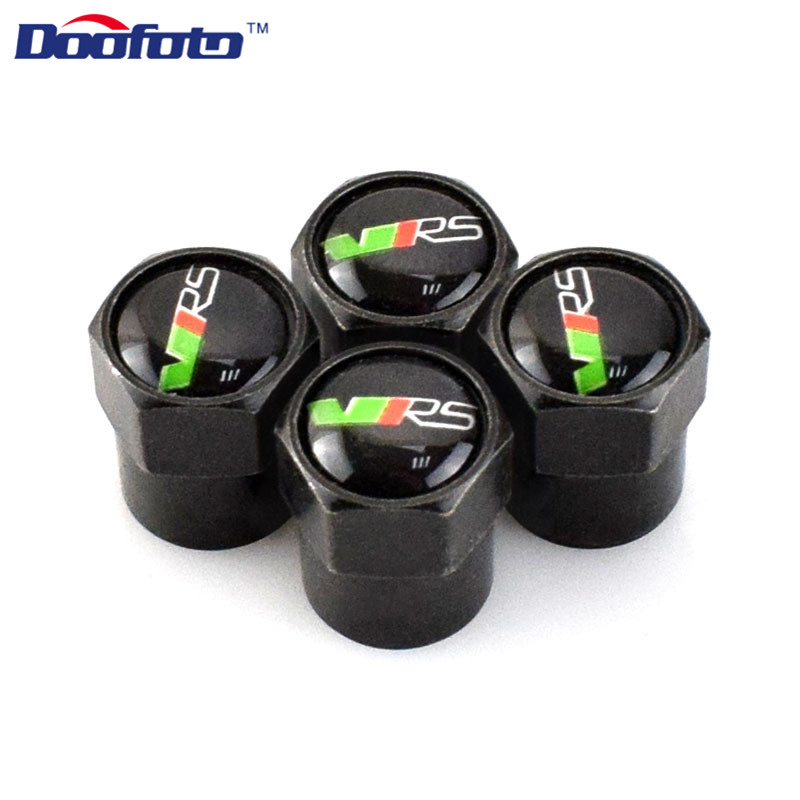 Doofoto Metal Auto Caps Fit For Skoda VRS Octavia Fabia Rapid Yeti For Superb A 5 A 7 Car Cover Styling Emblem Accessories Badge ceyes car styling 2pcs lot car emblems accessories case for skoda vrs octavia a7 fabia yeti rs auto seat belt cover car styling