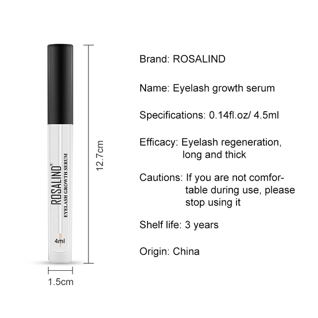 ROSALIND Eyelash Enhancer Lamination Growth Eyelash Serum Professional Longer Eyebrows Enhancer Natural Eye Makeup Lash Lift 5