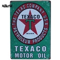 [Mike86] TECACO MOTOR ACEITE Verde placa de Metal Poster Room mural Pintura Antiguo Pub Club Sala de Home Decor 20X30 CM AA-543