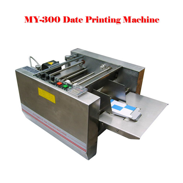 MY-300 expiry date printer, impress or solid-ink coding machine,box produce date printing machine new my 380f ink wheel coding machine ink wheel marking machine automatically continuous marking machine 180w 220v 110v 50hz 60hz