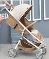 Deck pode sentar reclináveis alta paisagem carrinho de criança dobrável carrinho de bebê de quatro carrinho de bebê carrinho de criança