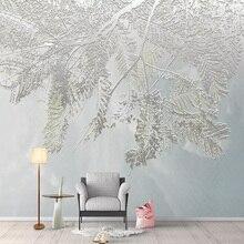 Photo Wallpaper 3D Stereo Leaf Murals Living Room TV Sofa Bedroom Background Wall
