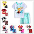 New Hot Sale Summer Kids Boys love T Shirt Shorts Set Children Short Sleeve Shirt Clothing Set Kids girls Sport Suit Outfit d001