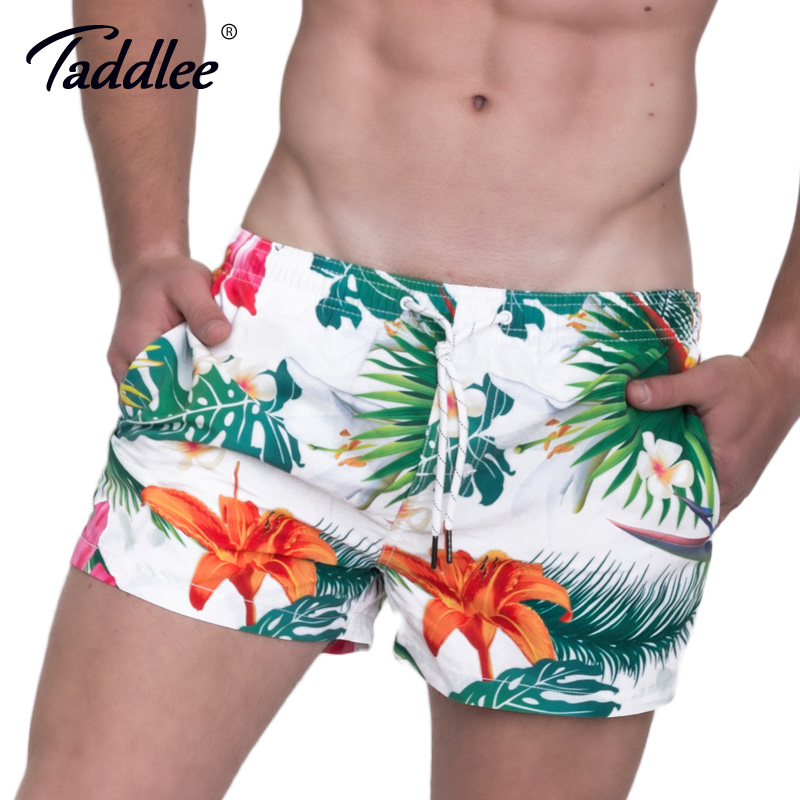 Taddlee Brand Men's Beach   Shorts     Board   Boxer Trunks   Shorts   Quick Drying Boardshorts Fashion Men Swimwear Swimsuits Sweatpants