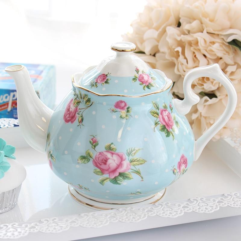 Théière à café de haute qualité théières de mode modernes bouilloire à thé en porcelaine de grande capacité