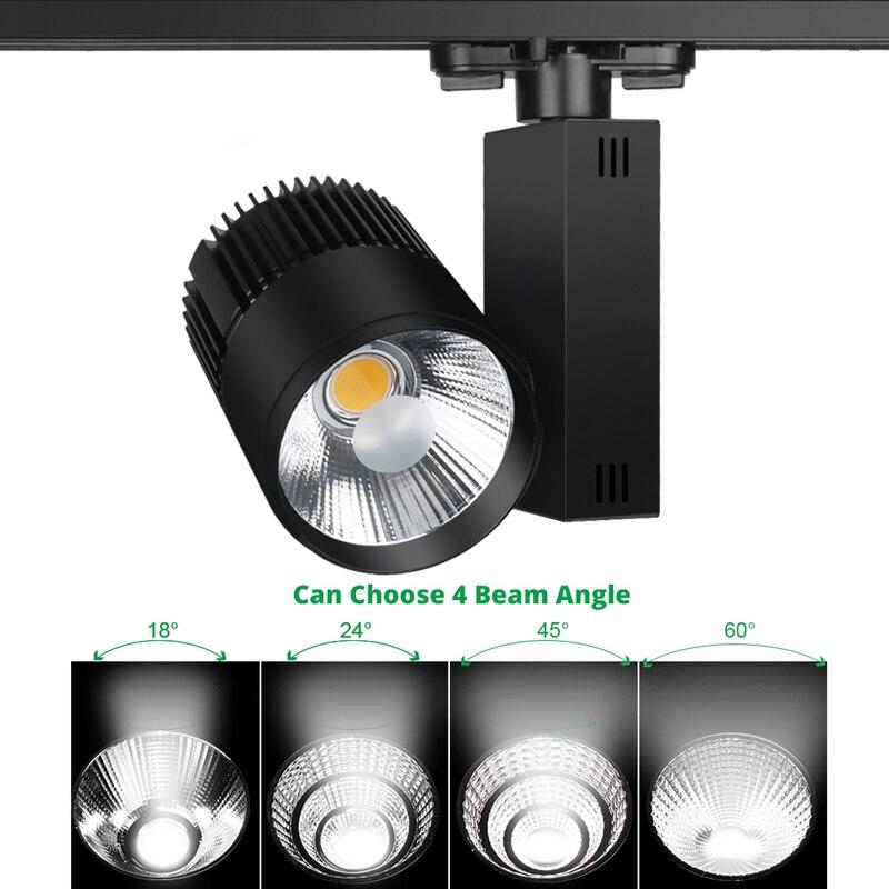 Hot Sale LED Track Light 40W COB Rail Lamp Led Spotlight