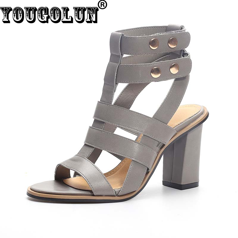 YOUGOLUN Women Gladiator Sandals Sexy Ladies Summer Rome Style Fashion High Heels(8cm)Shoes Elegant Woman Open toe Buckle Boots brand new stiletto high heels sandals gladiator women sexy platform rome style shoes summer ladies open toe buckle pumps fashion