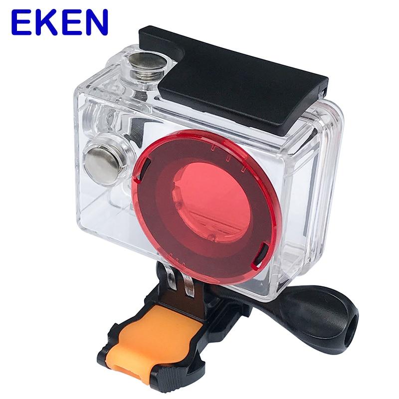 Eken impermeable carcasa 30 M buceo caja con Protector de lente tapa para Eken H9 H9R H8 H8R H3 H3R v8S H8PRO F71R