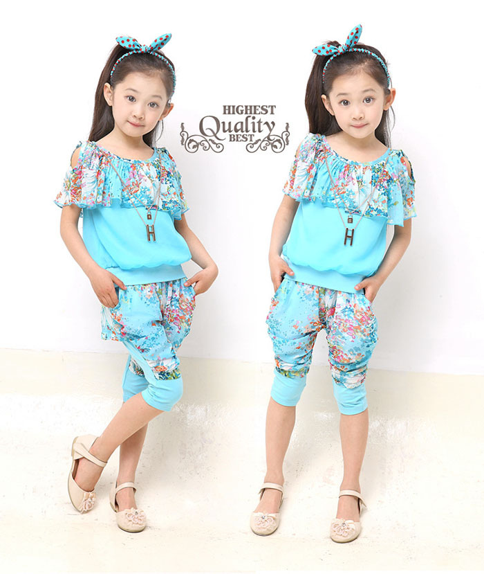Toddler Girls Summer Clothes Sets For Kids Wear To 2 4 6 8