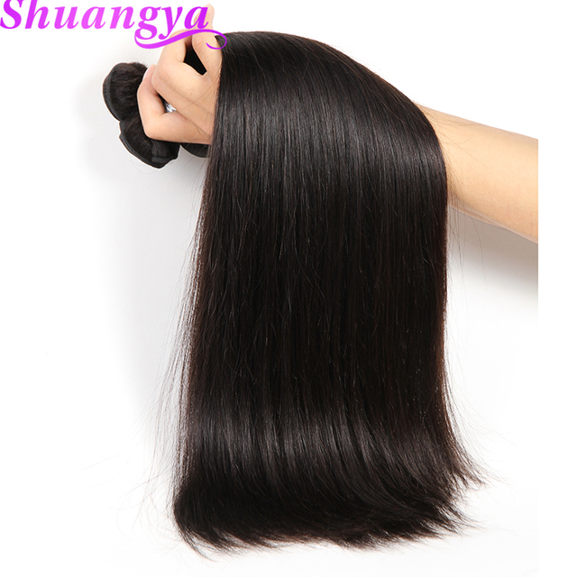 Indian Straight Hair Weave Bundles Natural Color 100 Human Hair