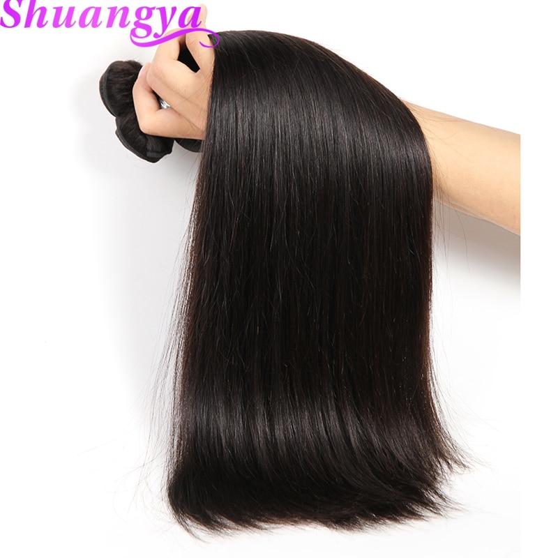 Indian Straight Hair Weave Bundles Natural Color 100% Human Hair Bundles 8-28 Hair Extension Shuangya Remy Hair Free Shipping