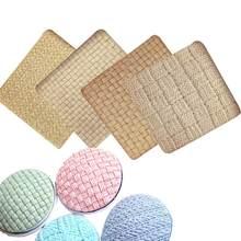 M1116 tricô lã padrão de renda fondant moldes de silicone malha impressão almofada textura modelo bolo decoração cozinha ferramentas de cozimento