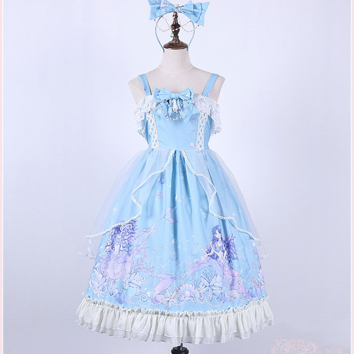 The Beauty in Deep sea Sweet Printed Lolita JSK Dress