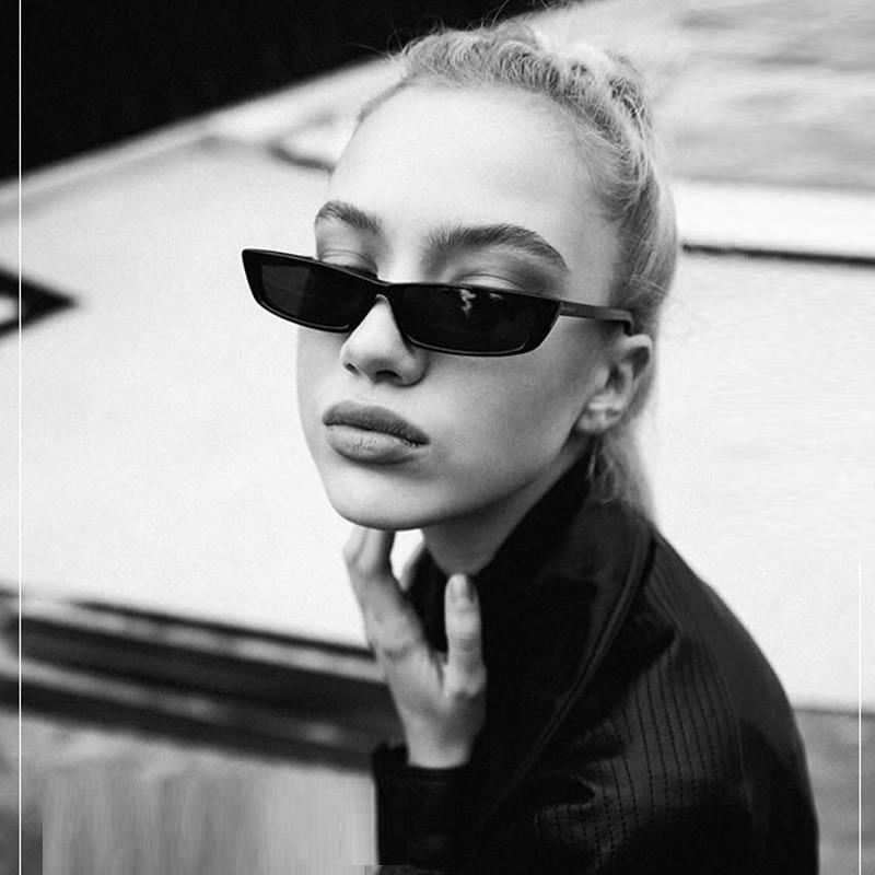 2018 Nouveau Petit Carré lunettes de Soleil Hommes Femmes Cat Eye Celebrity demi-Trame Lunettes de Soleil Mode Femme Oculos de sol Shades UV400