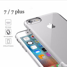 2017 new Ultrathin TPU case for iPhone 7 6 5s case Brand phone cover For iPhone 7 6s plus case Transparent Slim back case cover