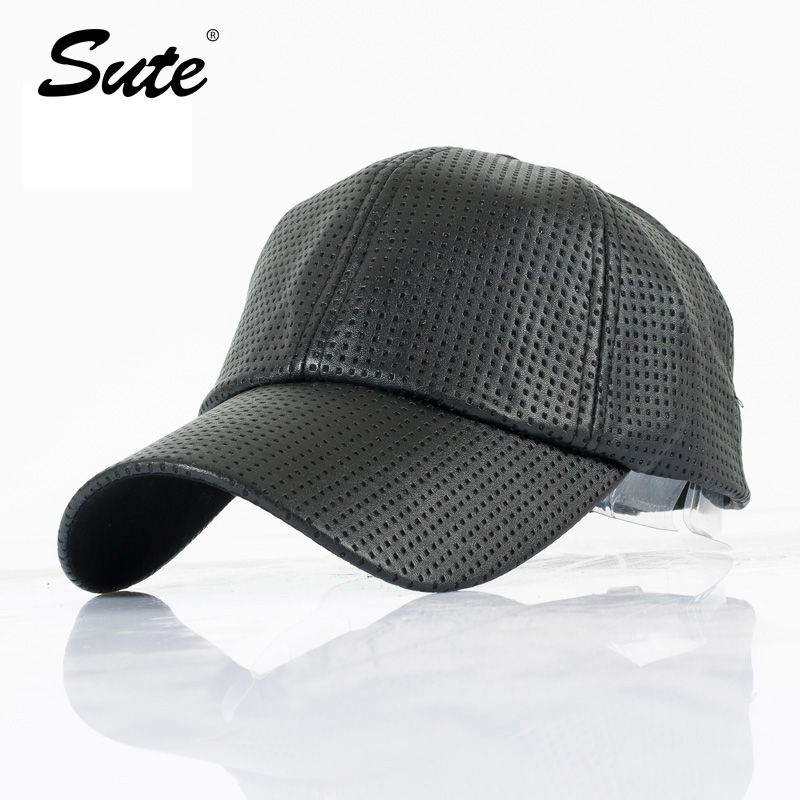 2016 new fashion PU Kulit hitam Topi Baseball wanita jatuh topi topi  Trucker snapback Topi Untuk pria musim dingin topi untuk wanita M-100 f3a0b02772