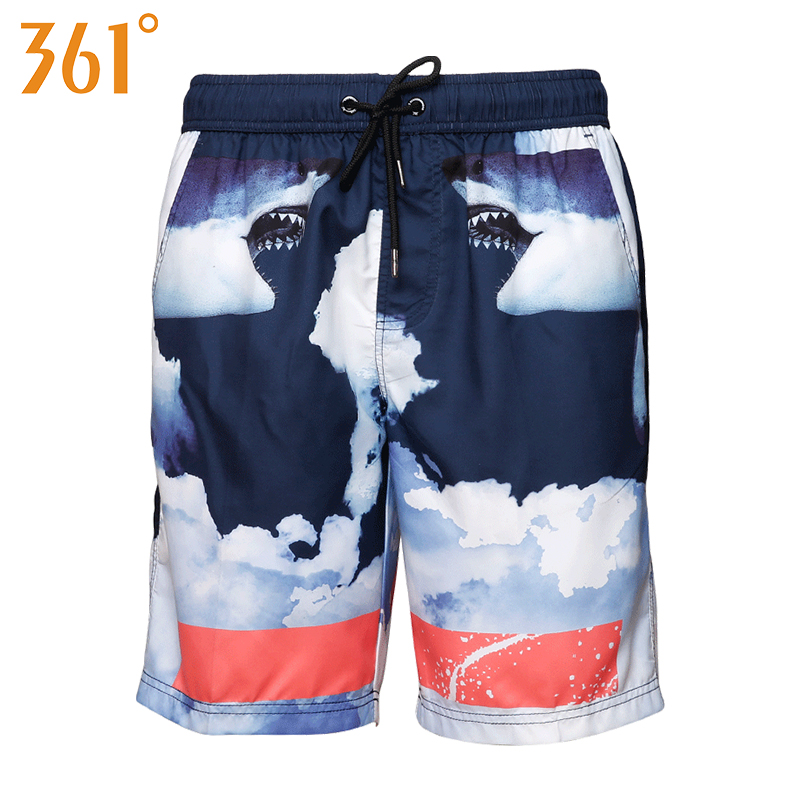 361 Men Beach Shorts Quick Dry Surf Beach Board shorts 2018 Sports Mens Swimming Shorts Boxer Swimming suit Male Swimsuit Short