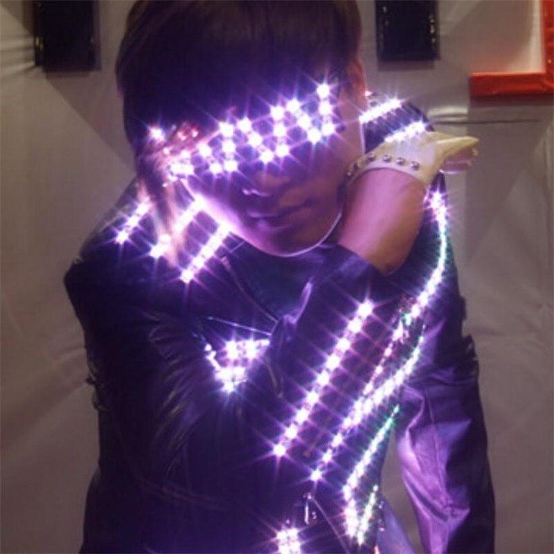 DHL Free Shipping LED Luminous Costume For Men font b Clothing b font Light Up Suits
