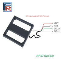 1set 125Khz 1M mid long distance range rfid reader with wiegand26 output use with EM Card for car parking system