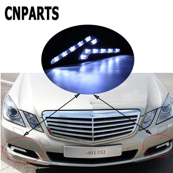 CNPARTS 2pcs Car DRL LED Daytime Running Lights Fog Lamp For Citroen C5 C4 C3 Mini Cooper Opel Astra H G J Vectra C Saab 9-3 93 image