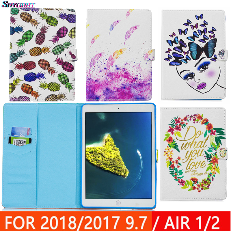 Case for iPad Air 1 2 5 6 Magnetic Stand PU Leather Case Smart Cover for New iPad 9.7 2017 2018 5th 6th Generation Funda Coque
